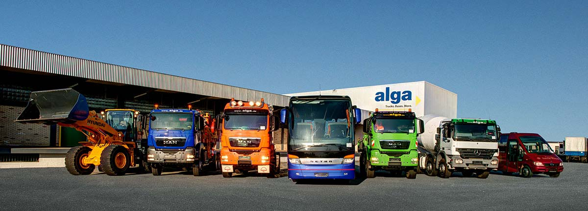 alga - Trucks. Busses. More.